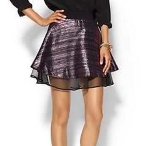 Milly Amanda Skirt Metallic Stripes Size 6